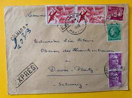 13535 - Lettre Exprès Colmar 19.03.1949 Pour La Suisse - Covers & Documents