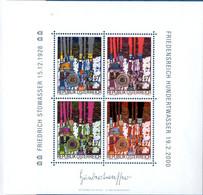 Austria 2000 Hundertwasser Block Issue MNH 2104.0624 - Modern