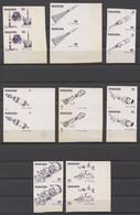 Rwanda, 1976, Space, Apollo, Soyuz, MNH Imperforated Proofs, Michel 835-842 - Ohne Zuordnung