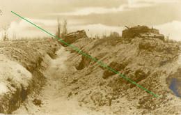14-18.WWI - Carte Photo Allemande - Frontfoto  Aisne Tank Trench - Guerra 1914-18