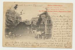Exposition Universelle PARIS 1900 - Au Village Suisse - Châlet D'Effretikon  (cachet Au Verso) - Tentoonstellingen