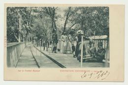 Exposition Universelle PARIS 1900 - Sur Le Trottoir Roulant - Exposiciones