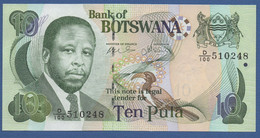 BOTSWANA - P.24b –  10 PULA 2007 UNC Prefix D/100 - Botswana