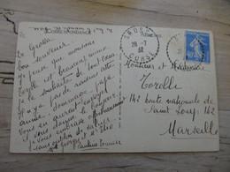 CORSE, Oblitération De GROSSA - 1932, Pauline TOMASI ............. 201101d-3628 - Cartas