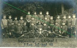 14-18.WWI - Carte Photo Allemande  - Frontfoto Soldaten Infanterie Regiment 158 (Husaren)Paderborn - Guerra 1914-18