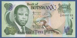 BOTSWANA - P.24b –  10 PULA 2007 UNC Prefix D/97 - Botswana