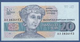 BULGARIA - P.100a – 20 LEVA1991 - UNC - Bulgaria