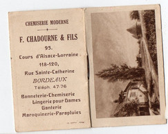 Bordeaux (33 Gironde) Petit Calendrier 1933 CHADOURNE ET FILS Chemiserie   (PPP28091) - Small : 1921-40