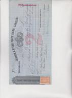 CAMBIALE - LETTERA DI CAMBIO : LONDON & RIVER PLATE BANK , LIMITED  -  VALPARAISO  1915  CON  MARCA - Bills Of Exchange