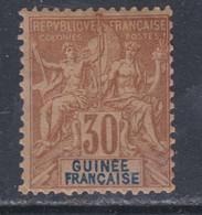 Guinée Française N° 9 X Type Groupe, 30 C. Brun, Trace De Charnière  Sinon TB - Used Stamps