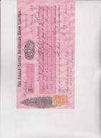 CAMBIALE - LETTERA DI CAMBIO : THE ANGLO-SOUTH AMERICAN BANK LIMITED .  IQUIQUE - CILE. 1921 - Bills Of Exchange