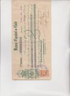 CAMBIALE - LETTERA DI CAMBIO : BANCO  ESPANOL DE CHILE  -  IQUIQUE  1920.  CON  MARCA - Bills Of Exchange