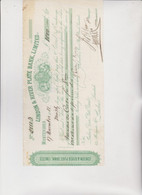 CAMBIALE - LETTERA DI CAMBIO :LONDON & RIVER PLATE BANK , LIMITED.  MONTEVIDEO  1888 - Bills Of Exchange