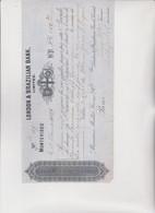 CAMBIALE - LETTERA DI CAMBIO : LONDON & BRAZILIAN BANK   MONTEVIDEO  1897 - Bills Of Exchange