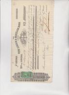 CAMBIALE - LETTERA DI CAMBIO :  NEW LONDON & BRAZILIAN BANK  -  RIO DE JANEIRO .   1879,  CON  MARCA - Bills Of Exchange