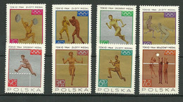 POLAND MNH ** 1472-1479 MEDAILLES AUX JEUX OLYMPIQUES DE TOKYO Escrime - Unused Stamps