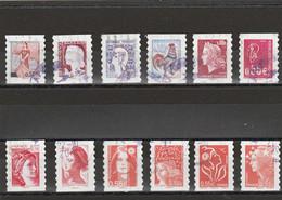 FRANCE 2008 -LES VISAGES DE LA CINQUIEME REPUBLIQUE YT 225 A 236 OBLITERE - KlebeBriefmarken