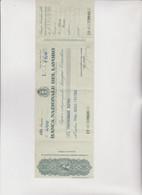 ASSEGNO CIRCOLARE : BANCA NAZIONALE DEL LAVORO . GENOVA 1945 - Cheques & Traveler's Cheques