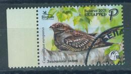_TH Belarus 2021 Nightjar Bird Of The Year Birds Fauna 1v Used - Sperlingsvögel & Singvögel