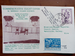 Ireland..... 1959...airmail....alcock And Brown - Airmail