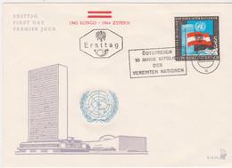 FDC Ö-1965 - Mi 1197 (46) , Österreich 10 Jahre Mitglied Der Vereinten Nationen , SST Wien 101 - FDC