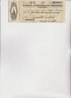 ASSEGNO   : BANCA ANONIMA DI CREDITO -  TORINO  1942 - Cheques & Traveler's Cheques