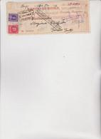 ASSEGNO   :  BANCO  DI  ROMA  -  BARGE  1947 - Cheques & Traveler's Cheques