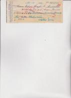 ASSEGNO   :  BANCA STEFANO MENGHI & C: - ALESSANDRIA.   1947 - Cheques & Traveler's Cheques