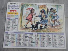 Calendrier Almanach Poste PTT 1994 Illustrations De Germaine Bouret - Dessins Humour Enfants - Big : 1941-60