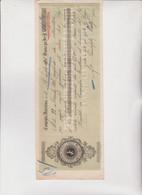 ASSEGNO- BUONO - RICEVUTA  :  CASSA RISPARMIO DEPOSITO E PRESTITI . CAMPIGLIA MARITTIMA. 1906 - Cheques & Traveler's Cheques