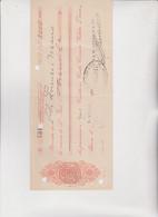 ASSEGNO- BUONO - RICEVUTA  : BANCA  M. GARIBALDI - PORTO  MAURIZIO .  1917 - Cheques & Traveler's Cheques