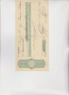 ASSEGNO- BUONO - RICEVUTA  :  BANCA COMMERCIALE ITALIANA  -  PALERMO   1926 - Cheques & Traveler's Cheques