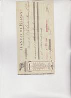 ASSEGNO- BUONO - RICEVUTA  : BANCO  DI  ROMA  -  PALERMO  1920 - Cheques & Traveler's Cheques