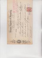 ASSEGNO- BUONO - RICEVUTA  :  LLOYDS  REGISTER OF  SHIPPING    -  LONDON 1925 - Cheques & Traveler's Cheques