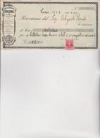 ASSEGNO- BUONO - RICEVUTA  :  CASA  EDITRICE  :  F. APOLLONIO   -  1936 - Cheques & Traveler's Cheques
