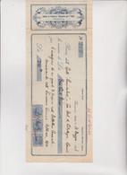 ASSEGNO- BUONO - RICEVUTA  :  CAMERA DI COMMERCIO BRITANNICA PER L'ITALIA  -  GENOVA. 1921 . - Cheques & Traveler's Cheques