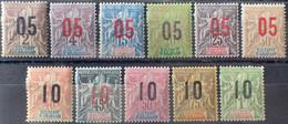 R2452/859 - 1912 - COLONIES FR. - ANJOUAN - SERIE COMPLETE - N°20 à 30 NEUFS* - Unused Stamps