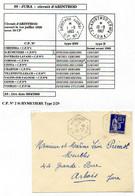 Poste Automobile Rurale Du Jura Circuit D'Arinthod CP N°2 St Hymetiere Type 2/29 Sur N° 365 - Manual Postmarks