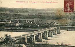 CPA -  PORT-MORT - BARRAGE, ET VUE SUR  N.DAME-DE-LA-GARENNE - Other Municipalities