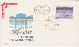 FDC Ö-1965 - Mi 1198 (20) , 150 Jahre Technische Hochschule Wien , ST Bregenz - FDC