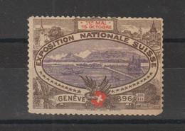 Suisse Vignette 1896 Exposition Genève Sans Gomme - Non Classificati