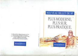 Publicité Banque De France Billet 50 F Saint Exupery - Supplies And Equipment