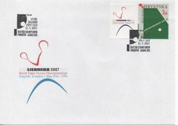 Croatia, Table Tennis,  World Championship 2007, Michel 812, Stamp+vignette - Tafeltennis