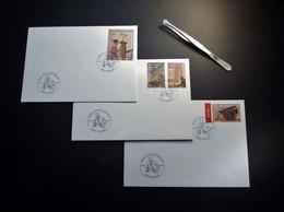 Belgie - Belgique - 2003 - OBP 3146/49 - Henry Van De Velde - 3 Enveloppes -  25.01.2003 Izegem - Oblitérés