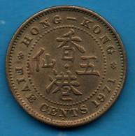 HONG KONG 5 CENTS 1971 H KM# 29.3 Elizabeth II - Hong Kong