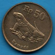 INDONESIA 50 RUPIAH 1994  KM# 52 Dragon De Komodo - Indonesia