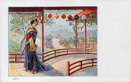 JAPON - Femme Japonaise Et Lampions  - Pub Moka Williot (Chicorée)(6781 ASO) - 1900-1949