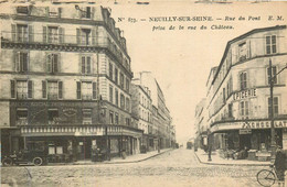 NEUILLY SUR SEINE Rue Du Pont Depuis La Rue Du Château - Neuilly Sur Seine