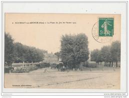 60 GOURNAY SUR ARONDE LA PLACE DU JEU DE PAUME 1915 CPA BON ETAT - Altri Comuni