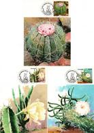 Brazil 1983, Scott 1880-1882, Maximum Cards, Cactus - Briefe U. Dokumente